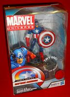 Marvel Universe: Exclusive Comic Series with Light-Up Base Captain America (Steve Rogers)